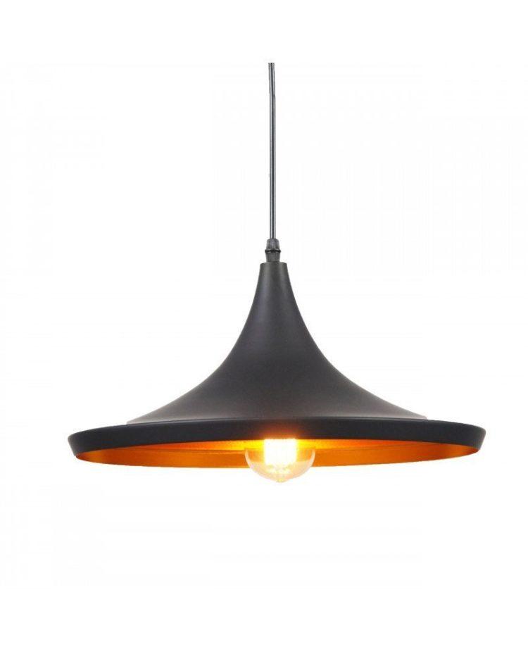 Lampadario vintage a sospensione industrial design Foggi 12C Nero