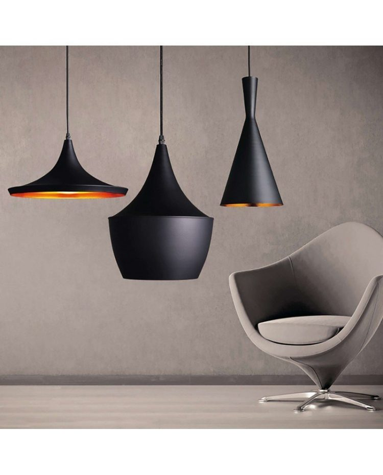 set lampada stile industriale design vintage 12b nero 1
