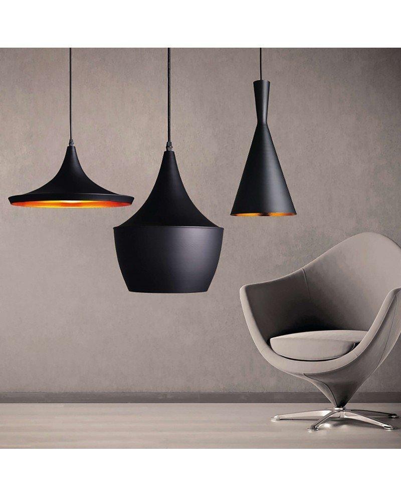 set lampada stile industriale design vintage 12b nero 1 test