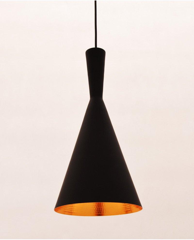 lampadario industriale metallo rame nero foggi 1 test
