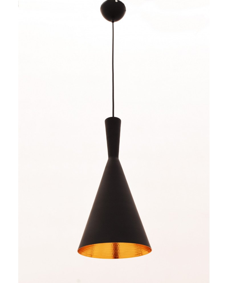 lampadario industriale metallo rame nero foggi 2 test