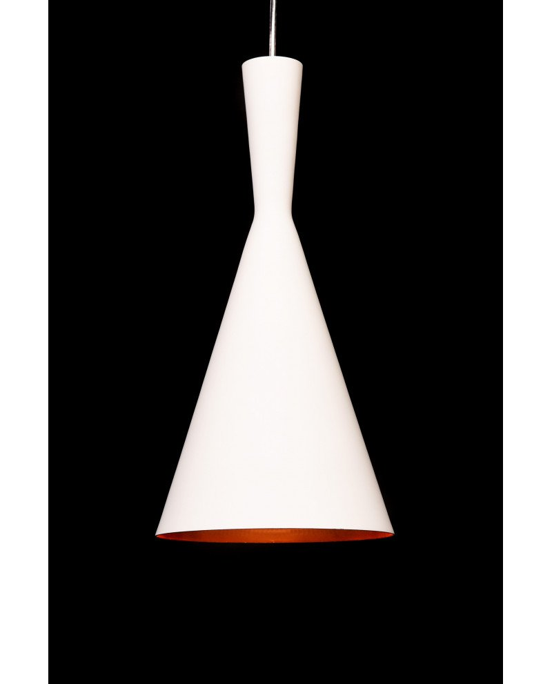 lampadario vintage industriale bianco rame 2 test