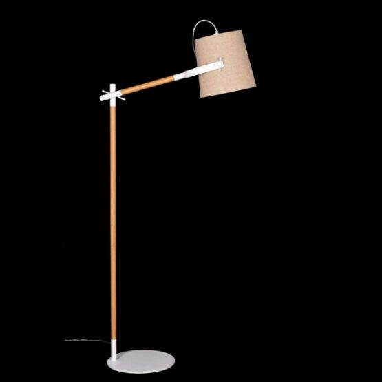 lampadario da terra in legno