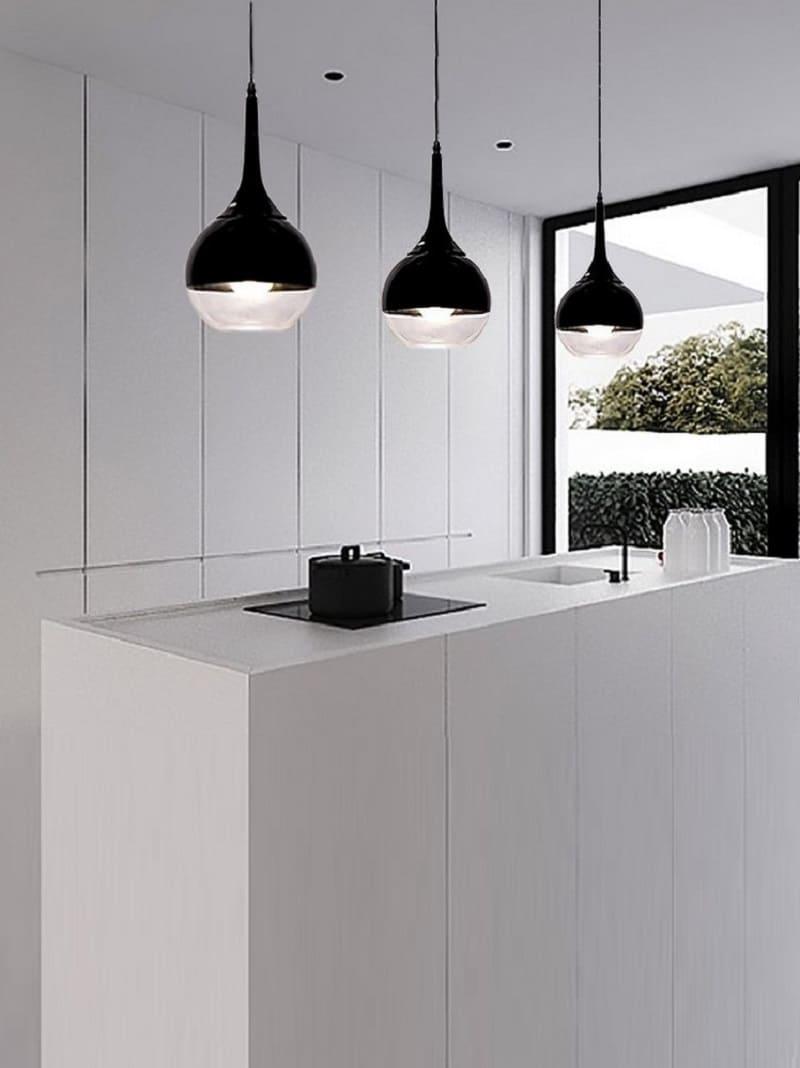 lampada di design a sospensione nero