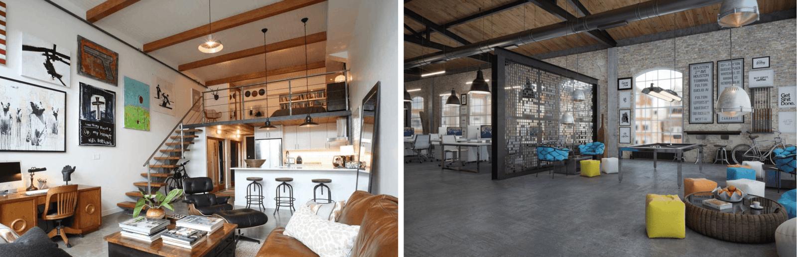 L'illuminazione per arredare spazi in stile industriale