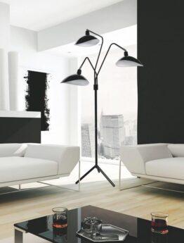 lampade da terra nere con paralume