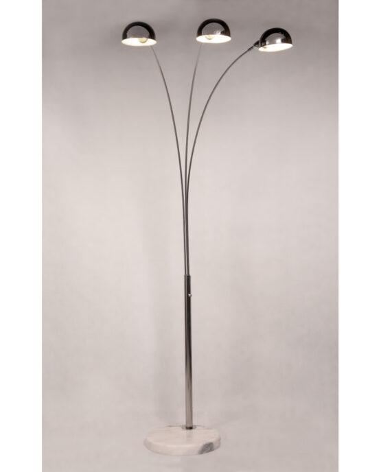 lampada da terra di design tre luci