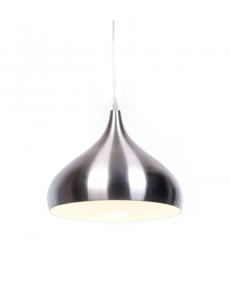 lampada a sospensione anni 50 argento vintage 1