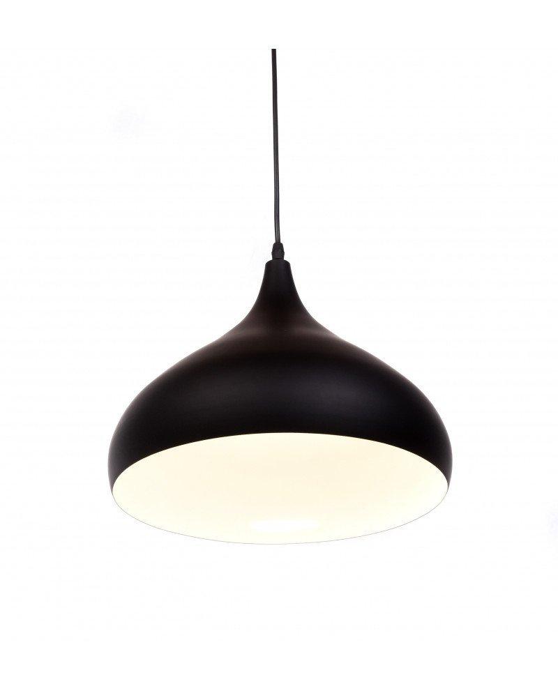 lampada a sospensione anni 50 nero vintage 2 test
