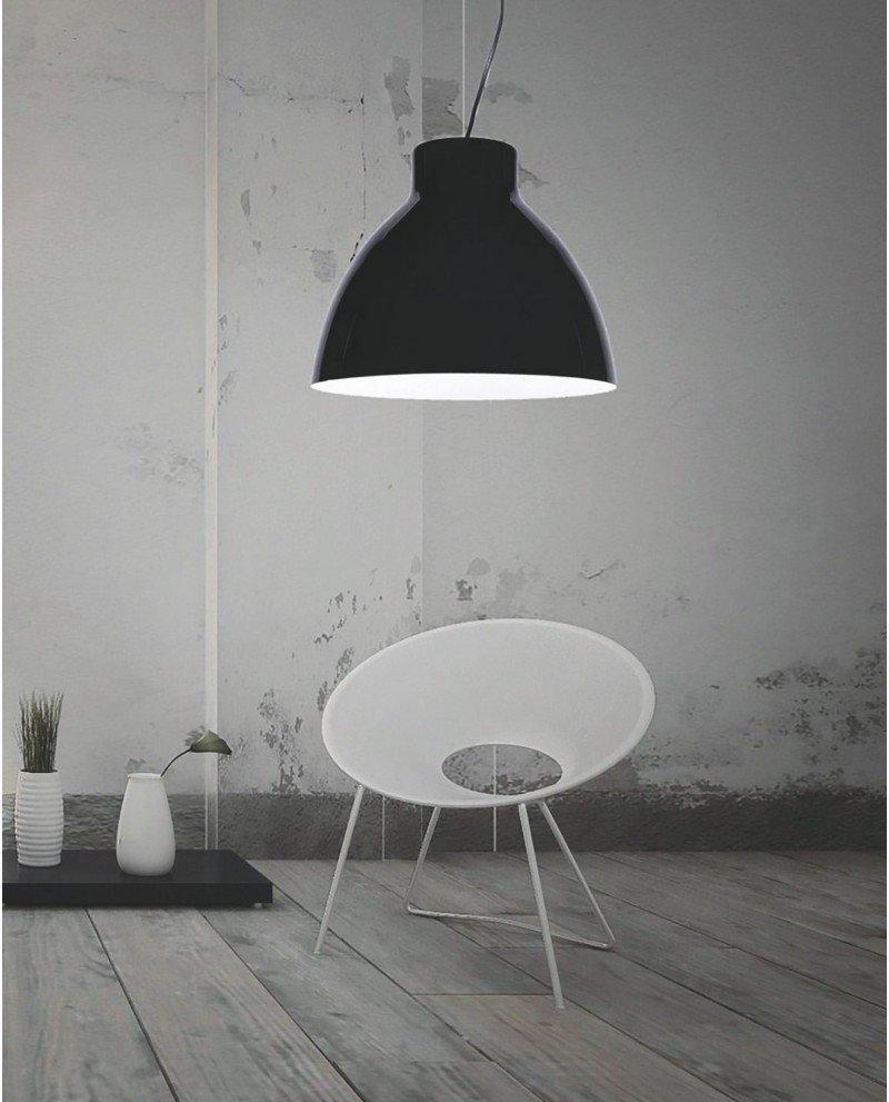 lampada da soffitto cornella nera 2 test