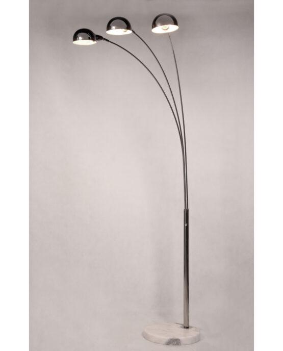 lampada da terra con base in marmo