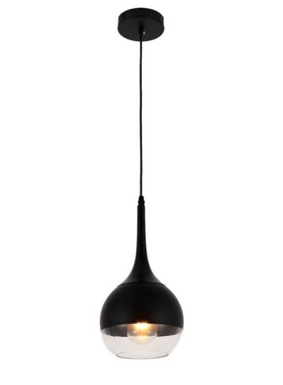 lampada a soffitto con attacco al muro nero