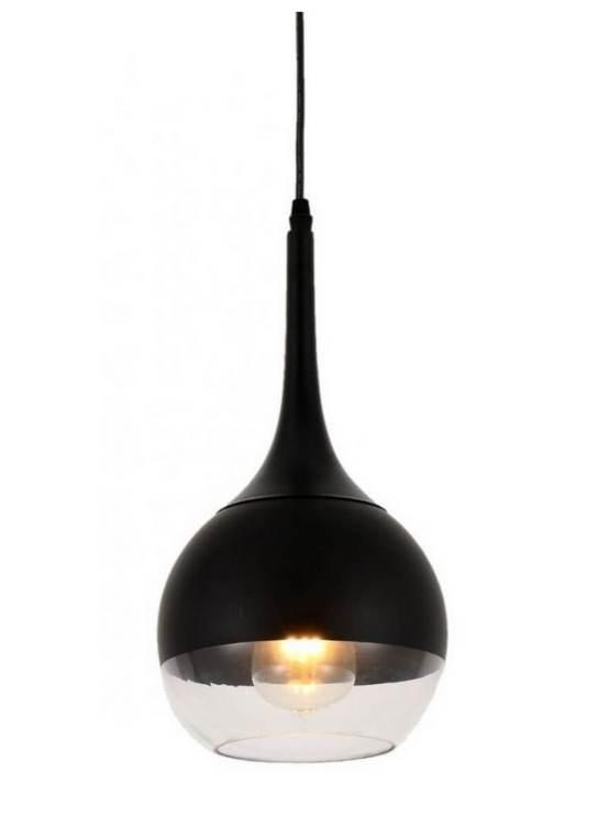 lampada a sospensione nera frudo