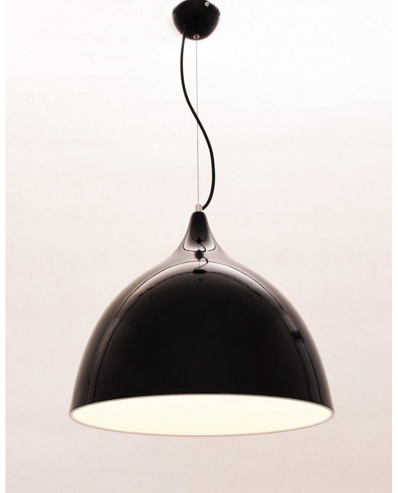 lampadario da soffitto vintage nero lucido Vittorio 3 test