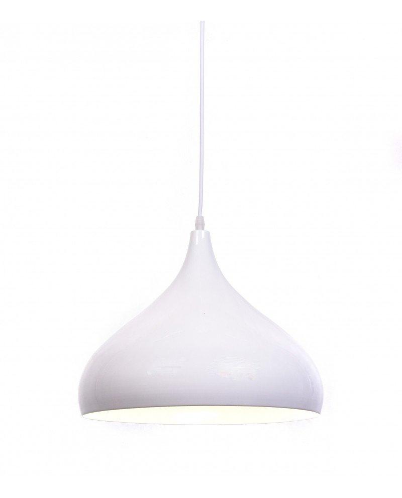 lampadario vintage anni cinquanta bombato smooth bianco 2 test