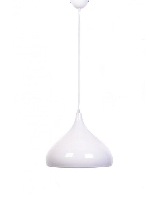 lampadario vintage anni cinquanta bombato smooth bianco