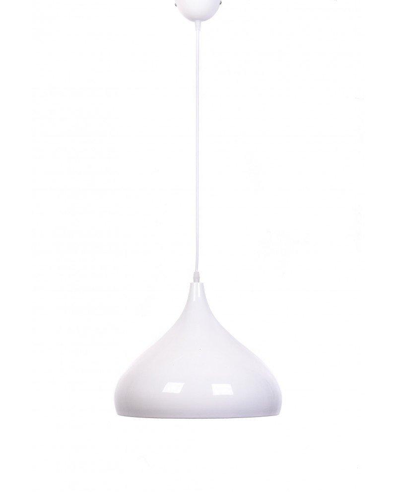 lampadario vintage anni cinquanta bombato smooth bianco 3 test