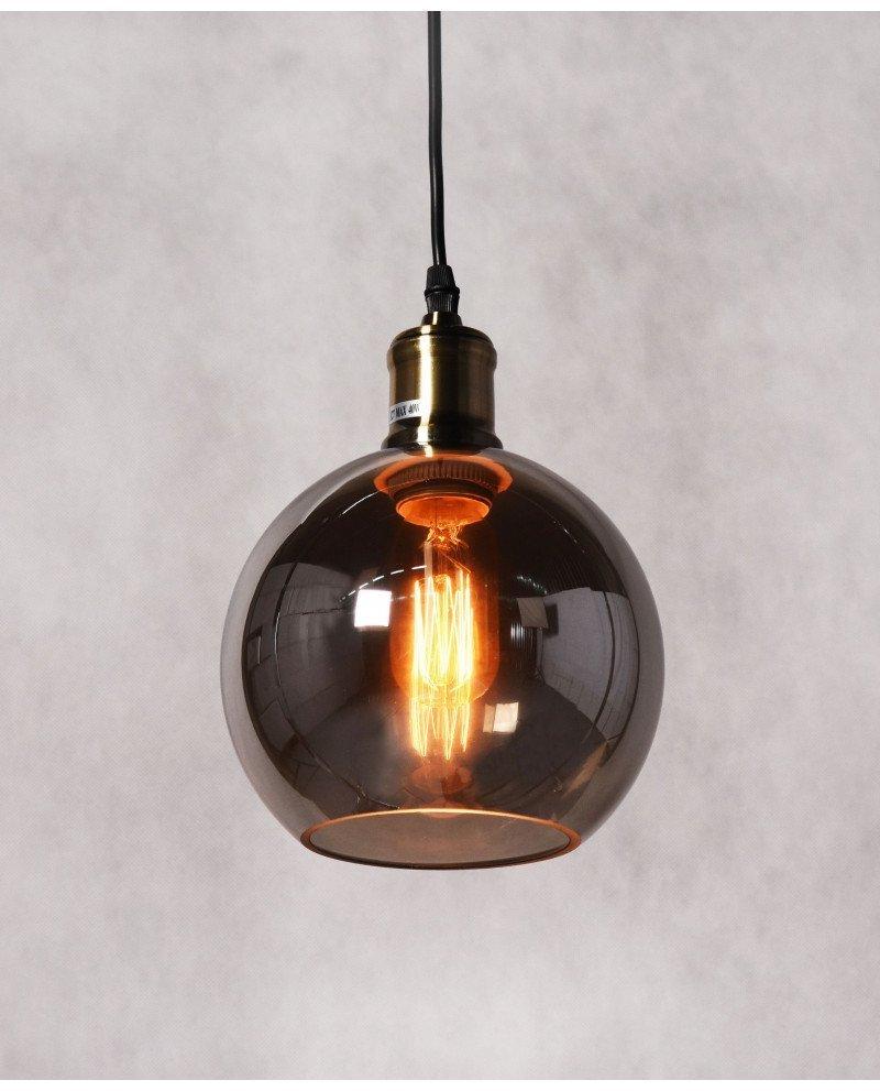 lampadario vintage industriale in vetro a sfera 3 test