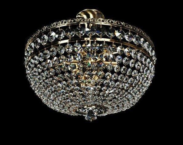lamapadario da ristorante elegante oro e cristallo