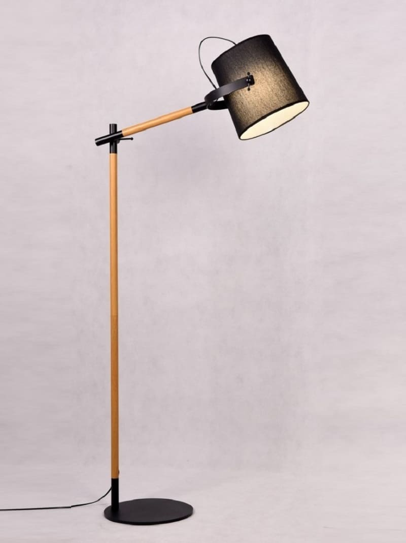 Lampada da terra design legno in metallo lampade vintage e industriali - Lampade da terra design outlet ...