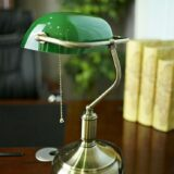 lampada ministeriale verde vintage