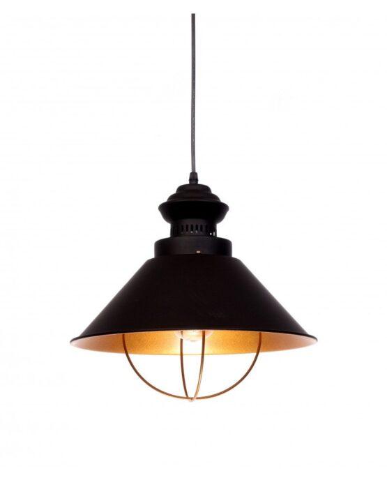 lampadario stile vecchia marina nero e rame