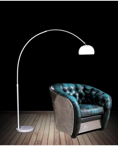 lampada da terra bianca vintage