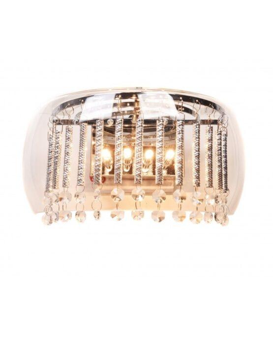 applique moderna semicerchio cristalli