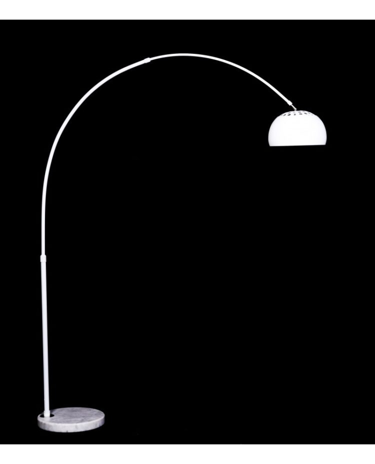 lampada da terra bianca moderna