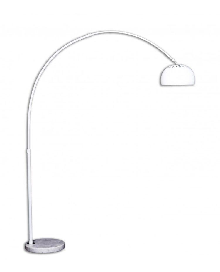 lampada da terra design bianca