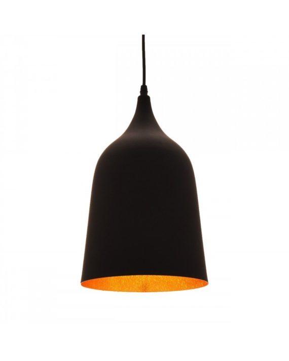 lampada vintage industriale Bell nera