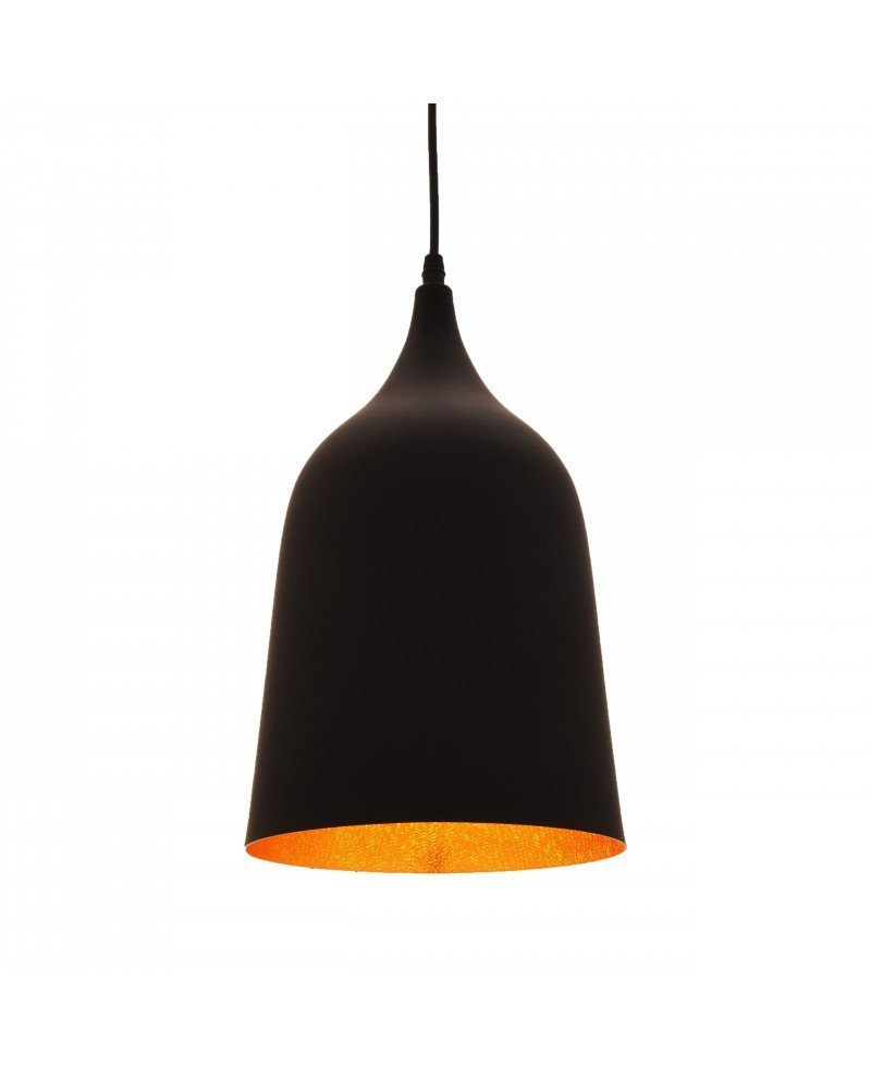 lampada vintage industriale Bell nera 1 test