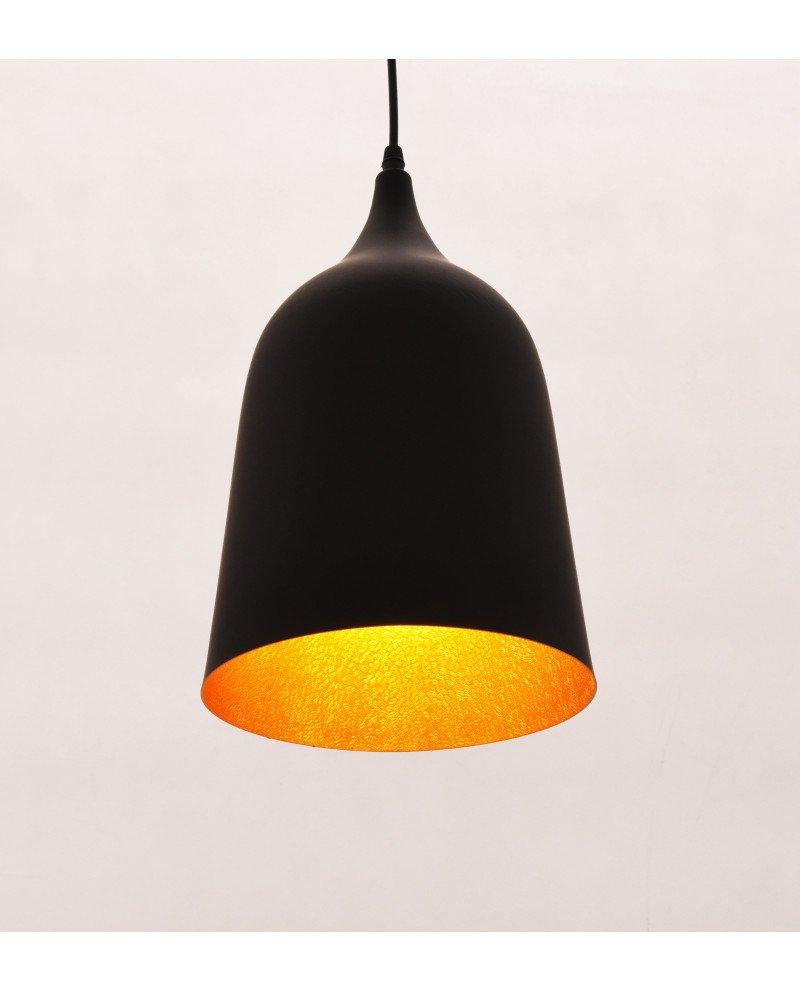 lampada vintage industriale Bell nera 2 test