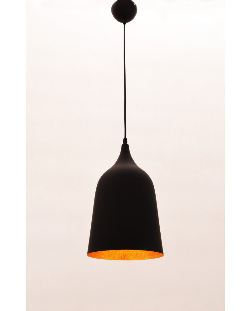 lampada vintage industriale Bell nera 3 test