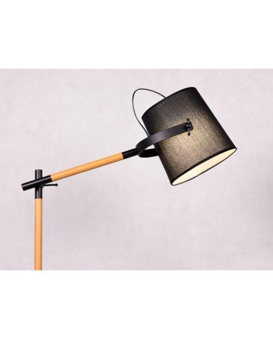 lampada piantana legno