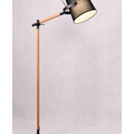 lampade in legno design con paralume nero