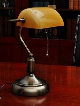 vintage lamp emeralite amber