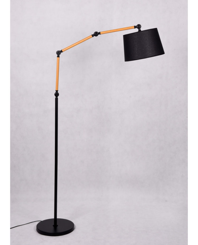 lampada arredo casa con paralume per soggiorno con braccio telescopico allungabile
