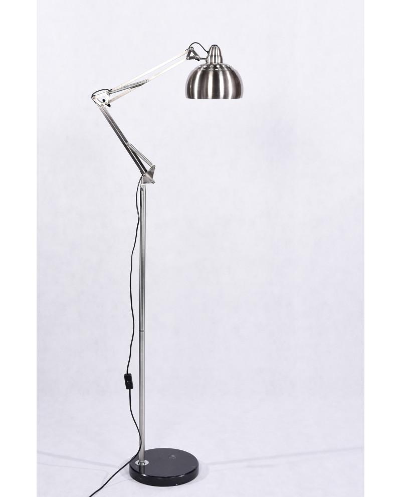 lampada per ufficio reclinabile in metallo spazzolato