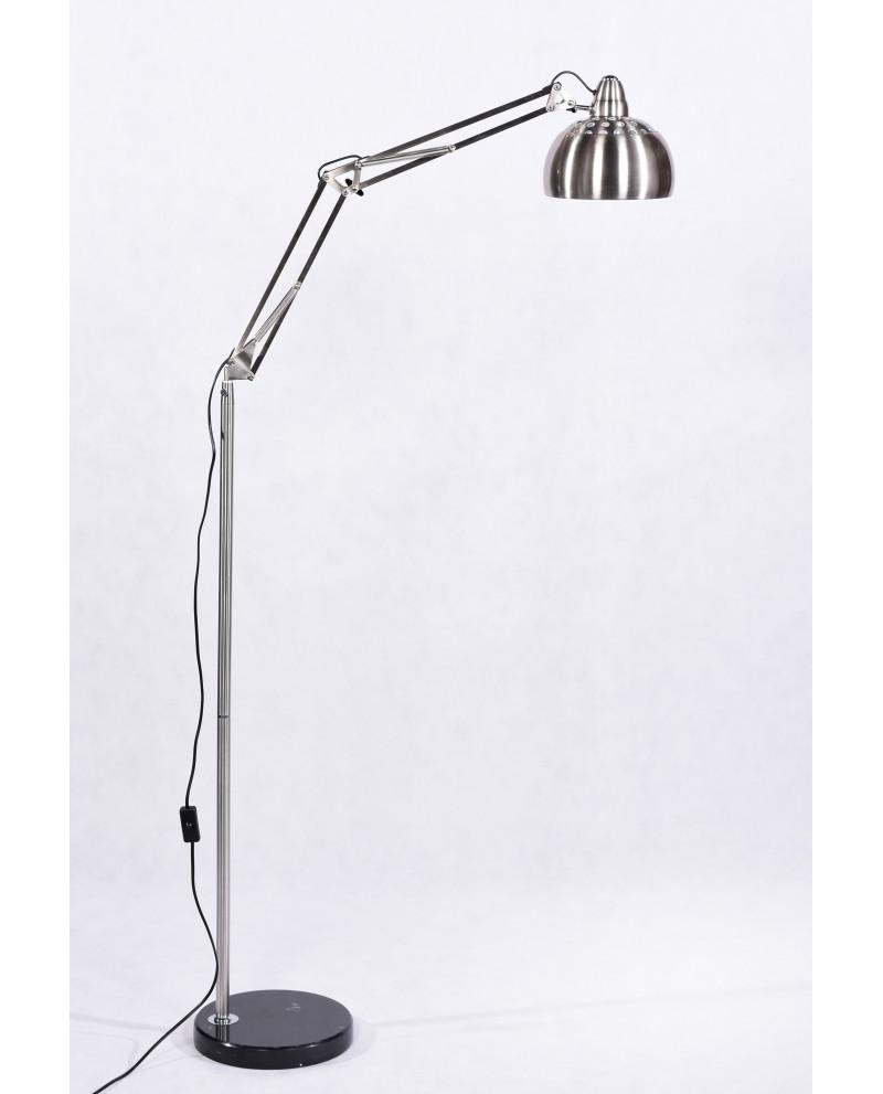 lampada da terra per studio con base in marmo