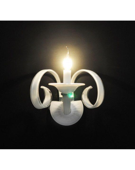 lampada candela bianca