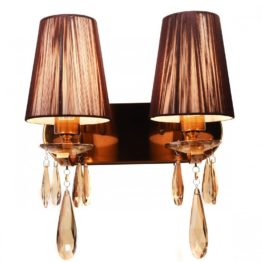Applique in ottone classico bronzo cristallo vintage elegante