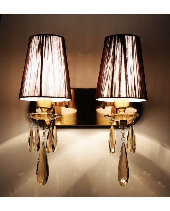 applique vintage modernariato ottone cristallo