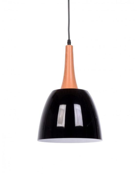 lampadario con paralume nero vintage industriale