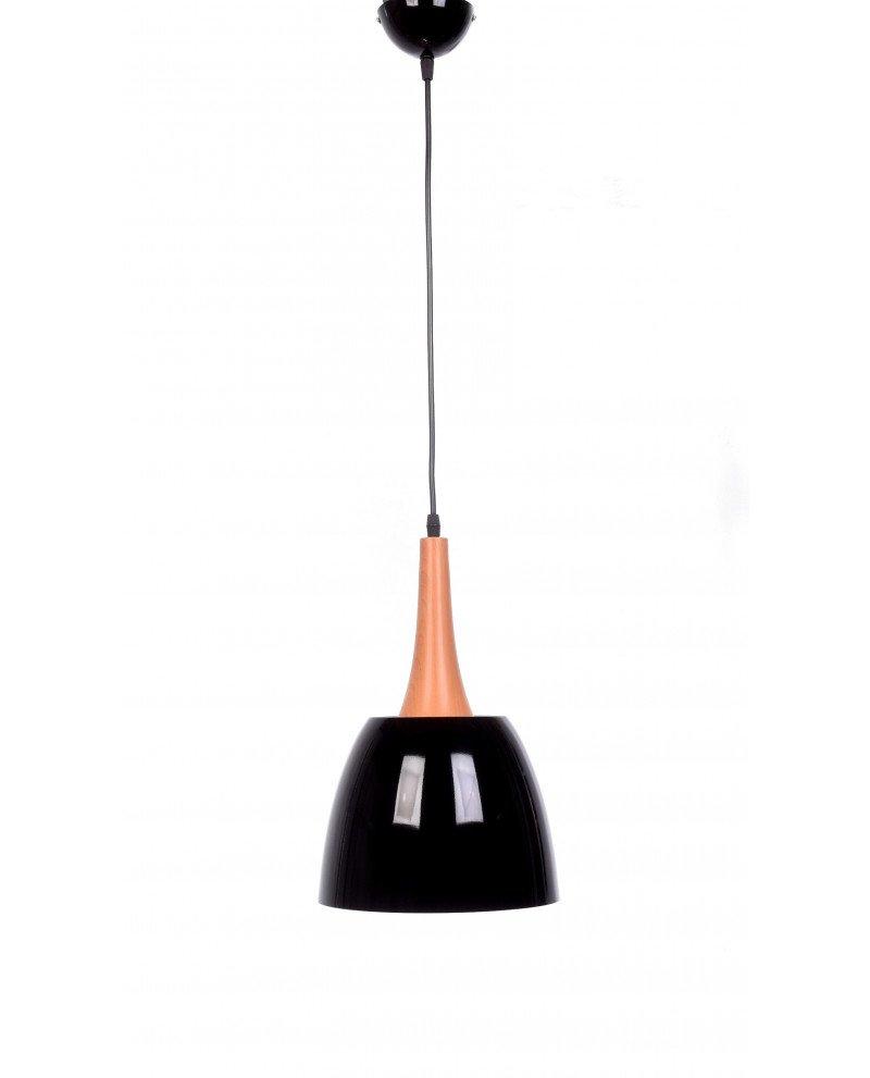 lampadario con paralume nero vintage industriale lampadevintage.it 3 test
