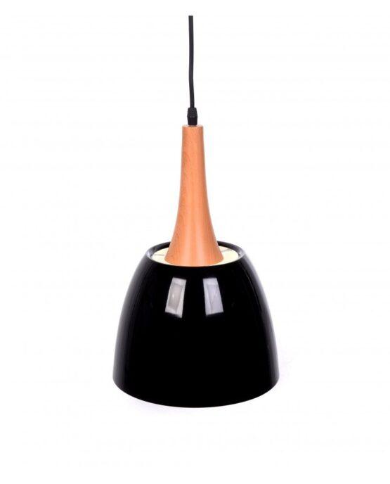 lampadario con paralume nero vintage industriale lampadevintage.it