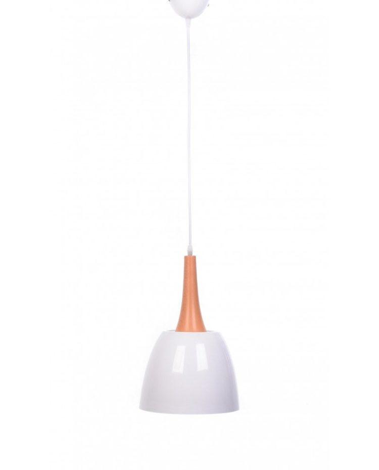 lampadario con paralume bianco vintage industriale