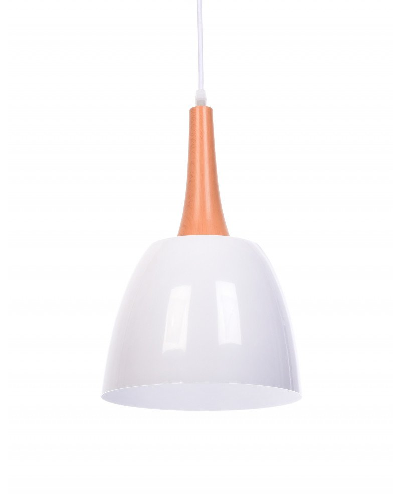 lampadario con paralume bianco vintage industriale lampadevintage.it
