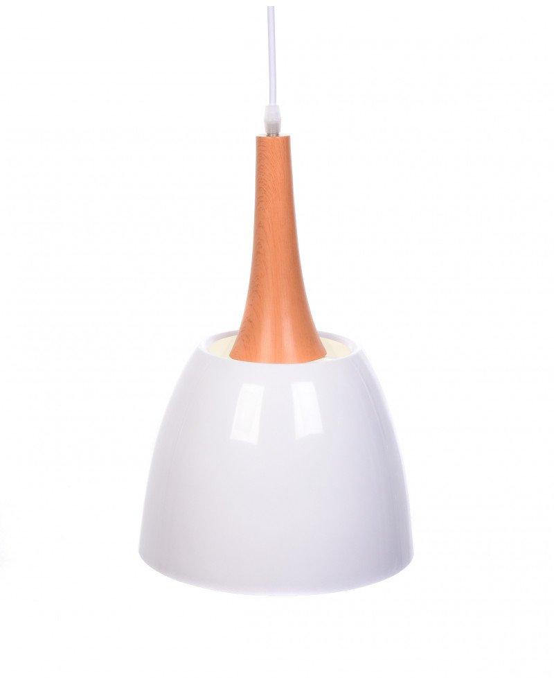 lampadario con paralume bianco vintage industriale lampadevintage.it 1 test