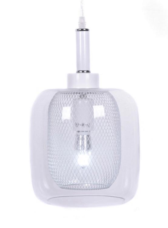 lampade sospensione vetro trasparente forma barattolo